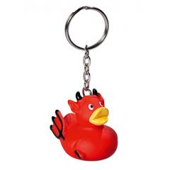M131018 Red - Keychain squeaky duck, devil - mbw