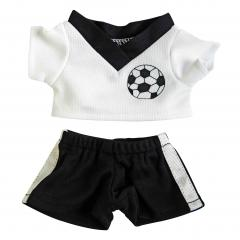 M140801 Black/white - Soccer dress - mbw