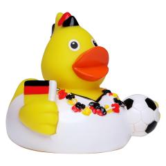 M131127 Black/red/yellow - Squeaky duck soccer fan - mbw